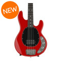 Ernie Ball Music Man StingRay 4H, Sweetwater Exclusive - Chili Red with Black Pickguard, Rosewood Fingerboard