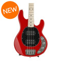 Ernie Ball Music Man StingRay 4HH, Sweetwater Exclusive - Chili Red with Black Pickguard, Maple Fingerboard