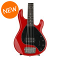 Ernie Ball Music Man StingRay 5H, Sweetwater Exclusive - Chili Red with Black Pickguard, Rosewood Fingerboard