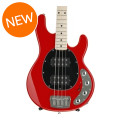 Ernie Ball Music Man StingRay 4HH SLO Special - Chili Red with Black Pickguard, Maple Fingerboard