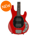 Ernie Ball Music Man StingRay 4HH SLO Special - Chili Red with Black Pickguard, Rosewood Fingerboard