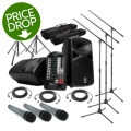 Sweetwater StagePas 400i Portable PA System with Stands and 3 MicrophonesStagePas 400i Portable PA System with Stands and 3 Microphones