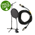 Sweetwater Mic Stand, Cable, and Pop FilterMic Stand, Cable, and Pop Filter