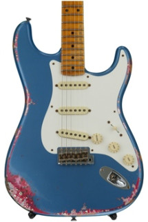 Fender Custom Shop 1957 Heavy Relic Stratocaster - Lake Placid Blue over Pink Paisley