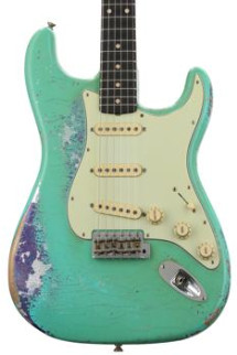 Fender Custom Shop '60s Stratocaster Heavy Relic/Closet Classic Mix - Seafoam Green over Purple Paisley