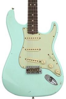 Fender Custom Shop 1963 Stratocaster Journeyman Relic - Faded Sonic Surf Green