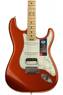 Fender American Elite Stratocaster HSS Shawbucker - Autumn Blaze Metallic with Maple Fingerboard