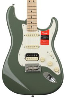 Fender American Professional HSS Shawbucker Stratocaster - Antique Olive with Maple Fingerboard