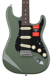 Fender American Professional Stratocaster - Antique Olive with Rosewood Fingerboard