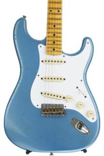 Fender Custom Shop Ancho Poblano Stratocaster Journeyman Relic - Lake Placid Blue Metallic