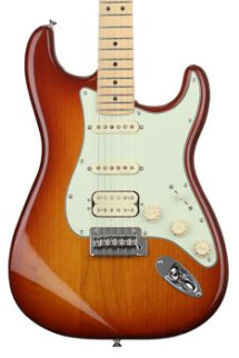 Fender Deluxe Stratocaster HSS - Tobacco Sunburst with Maple Fingerboard