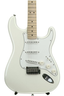 Squier Deluxe Strat - Pearl White