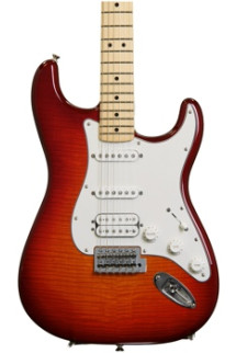 Fender Standard Stratocaster HSS Plus Top - Aged Cherry Burst with Maple Fingerboard