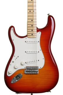 Fender Standard Stratocaster Plus Top Left-handed - Aged Cherry Burst with Maple Fingerboard