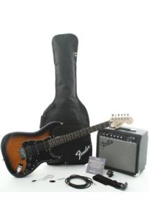 Squier Affinity Strat Pack HSS with Frontman 15G Amplifier - Brown Sunburst