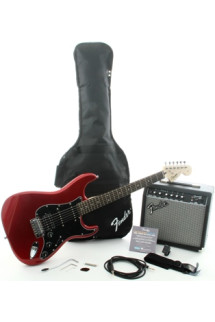 Squier Affinity Strat Pack HSS with Frontman 15G Amplifier - Candy Apple Red