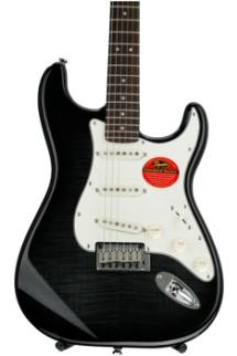 Squier Standard Stratocaster FMT - Ebony Transparent