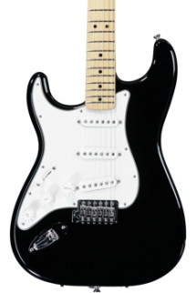 Fender Standard Stratocaster Left-handed - Black with Maple Fingerboard