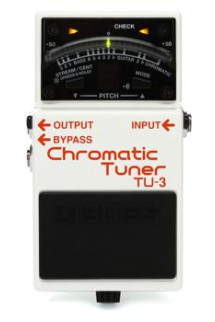 Boss TU-3 Chromatic Tuner Pedal with Bypass