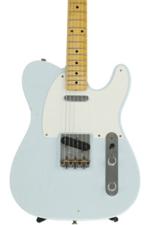 Fender Custom Shop '50s Telecaster Journeyman Relic - Faded Sonic Blue with Maple Fingerboard