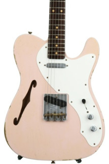Fender Custom Shop 50s Thinline Telecaster, All Rosewood Neck - Faded Shell Pink