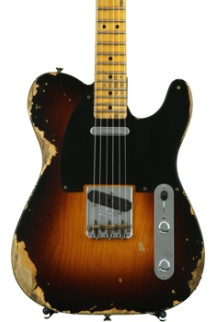 Fender Custom Shop 1951 Time Machine Heavy Relic Telecaster - Faded 2-color Sunburst