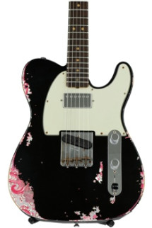 Fender Custom Shop Limited Edition Heavy Relic H/S Telecaster - Aged Black over Pink Paisley