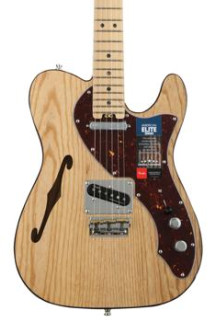 Fender American Elite Telecaster Thinline - Natural with Maple Fingerboard