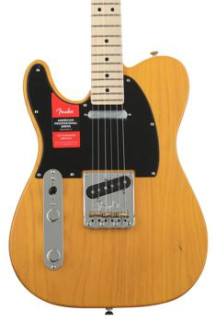 Fender American Professional Telecaster Left-handed - Butterscotch Blonde with Maple Fingerboard