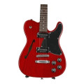 Fender Jim Adkins JA-90 Telecaster Thinline - Crimson Transparent with Rosewood Fingerboard