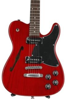 Fender Jim Adkins JA-90 Telecaster Thinline - Crimson Transparent with Rosewood Fingerboard