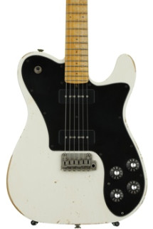 Friedman Vintage T with Classic 90s and Alder Body - White with Maple Fingerboard