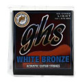 GHS WBL White Bronze Alloy 52 Light Acoustic Guitar StringsWBL White Bronze Alloy 52 Light Acoustic Guitar Strings