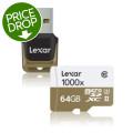 Lexar Professional 1000x MicroSDXC Card - 64GB, Class 10, U3, UHS-II