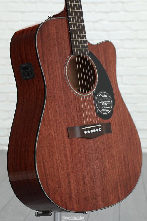 Fender CD-60SCE - Natural Mahogany image 1