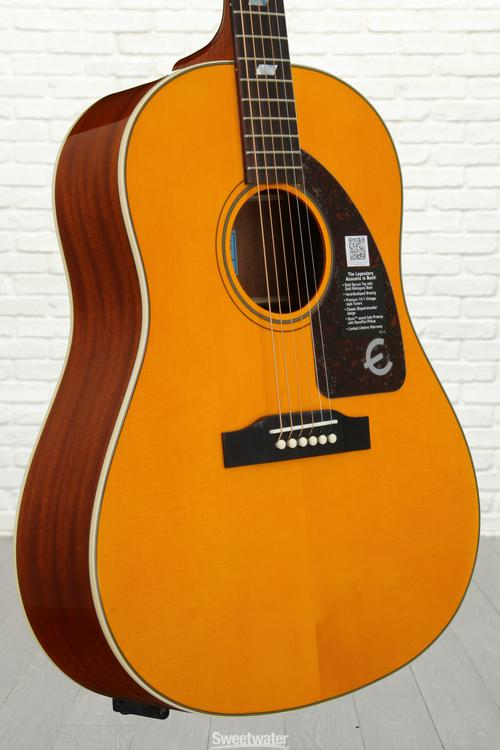 Epiphone Inspired by 1964 Texan - Antique Natural image 1