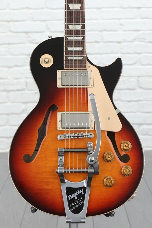 Gibson Memphis ESLP Hollow - Bourbon Burst, Bigsby