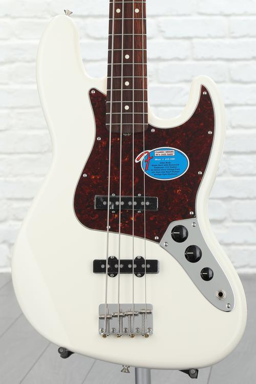 Fender '60s Jazz Bass - Olympic White with Rosewood Fingerboard