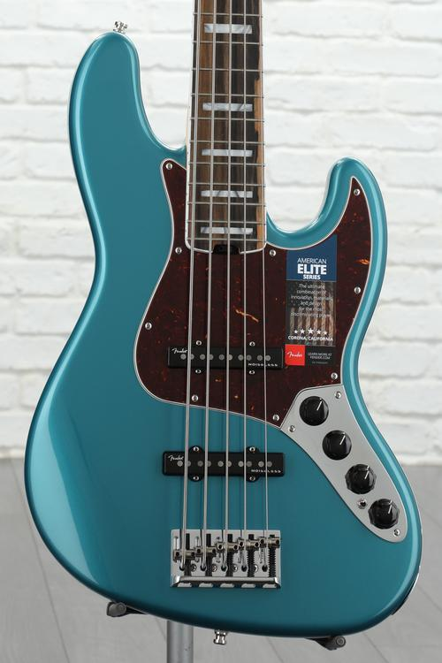 Fender American Elite Jazz Bass V Ocean Turquoise Ebony