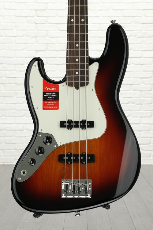 Fender American Professional Jazz Bass, Left-handed - 3-color Sunburst with Rosewood Fingerboard