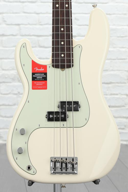 Fender American Professional Precision Bass, Left-handed - Olympic White with Rosewood Fingerboard