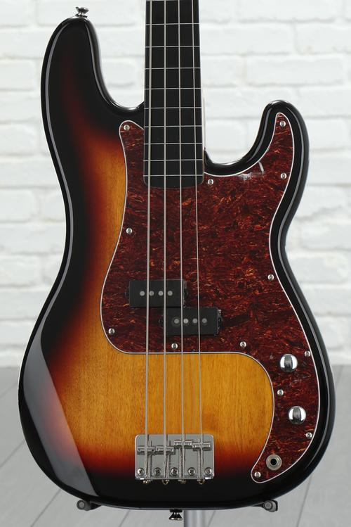 Squier Vintage Modified P Bass FL - 3-Color Sunburst image 1
