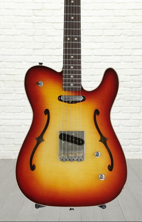 LsL Instruments Soledad Deluxe 290 with Swamp Ash Body - Cherry Burst with Contrasting Back