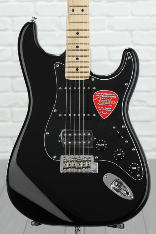 Fender American Special Stratocaster HSS - Black with Maple Fingerboard
