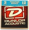 Dunlop DAP1254 Phosphor Bronze Light Acoustic Strings 3 Pack