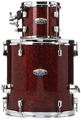 Pearl Decade Maple 2-piece Add-on Pack - Crimson Galaxy Flake Wrap