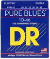 DR Strings PHR-10 Pure Blues Pure Nickel Medium Electic Guitar Strings