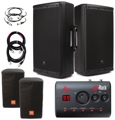 JBL EON612 PA Package - with goRack and Covers