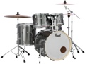 Pearl Export EXX 5-piece Drum Set with Hardware - Fusion Configuration - Smokey Chrome