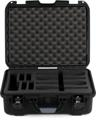 Gator Titan Series Wireless Mic and Accessories Case - Holds 4 Mics